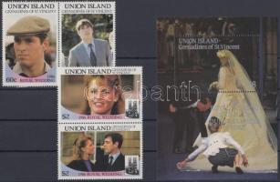 Andrew herceg és Sarah Ferguson esküvője sor + blokk, Prince Andrew and Sarah Ferguson's wedding set + block