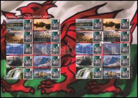 Wales 2007 Dicső Wales bélyegfólia Mi 91 CS Zf