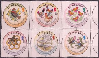 2006 Tizenkét karácsonyi nap karácsonyi dal ívszéli sor Mi 987-992