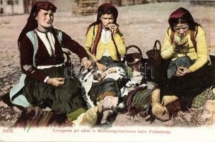Montenegrin folklore, breakfast, Reggeliző asszonyok, montenegrói folklór