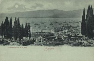 Smyrna, Caserne turque et la Rade / barracks, port, ships