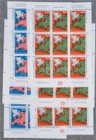JUGOSZLÁVIA több példányos tétel a 70-es 80-as évekből nagyon sok blokkal, kisívvel 3 db ívberakóban / YUGOSLAVIA multiple stock with a lot of blocks and minisheets in 3 sheet albums (min. Mi EUR 800.-)