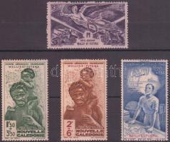 1942-1946 4 stamps with set, 1942-1946 4 db bélyeg, közte sorral