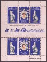 II. Erzsébet koronázási évforduló kisív Anniversary of Elisabeth II.'s coronation mini sheet