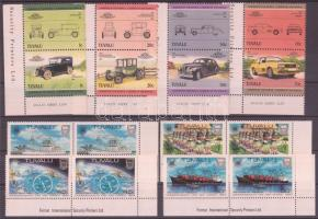 1983 Nemzetközösségi nap 2 sor ívsarki párokban Mi 186-189 + 1985 Autók (II) 4 pár Mi 296-303