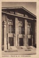 Katowice, Kattowitz; theatre