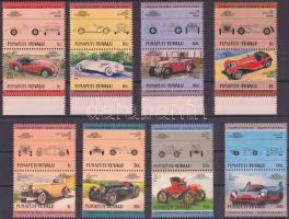 1984-1985 Cars (I-II) 2x4 pair 1984-1985 Autók (I-II) 2x4 pár