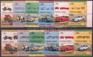Cars (I) 6 pairs + SPECIMEN Autók (I) 6 pár + MINTA