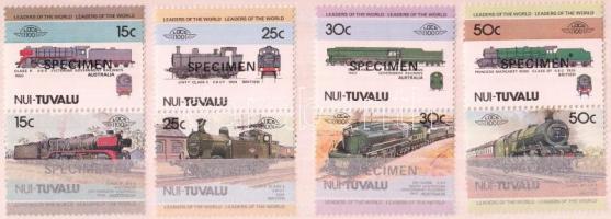 Locomotives (I) 4 pairs SPECIMEN, Mozdonyok (I) 4 pár MINTA