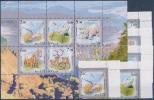 2006 Jakutföld állatvilága ívsarki sor Mi 1372-1376 + blokk Mi 95