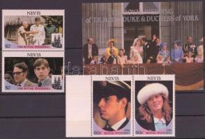 1986 Andrew herceg és Sarah Ferguson esküvője sor Mi 393-396 A + blokk 11