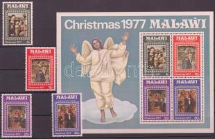 1977 Karácsony sor Mi 289-292 + blokk 50