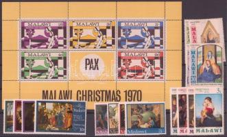 1968+1970-1972+1974 4 klf Karácsony sor + 1 blokk