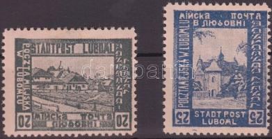Luboml helyi kiadás 1918 Város értékek fordított értékszámokkal Mi III-IV F