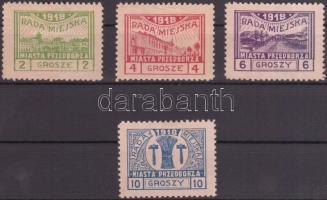 Przedbórz helyi kiadás 1918 Mi 7-10 A