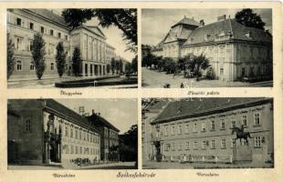 Székesfehérvár, Megyeháza, Városháza, Püspöki palota
