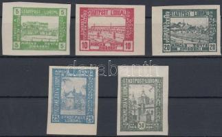 Luboml helyi kiadás 1918 Városok vágott sor Mi I-V