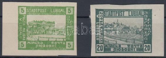 Luboml helyi kiadás 1918 Városok vágott értékek Mi I, III