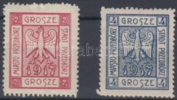 Przedborz helyi kiadás 1917 Címer sor Mi 1-2 A