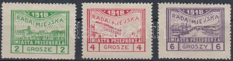 Przedborz helyi kiadás 1918 Mi 7-9 A