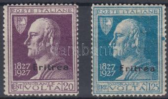 1927 Alessandro Volta értékek Mi 125, 127