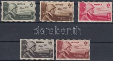1934 Királyi látogatás értékek Mi 233-237