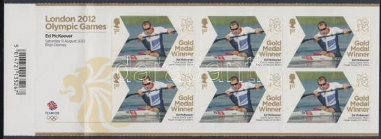 2012 London Olimpiai aranyérmesek - kajak-kenu Ed McKeever öntapadós füzetlap Mi 3319
