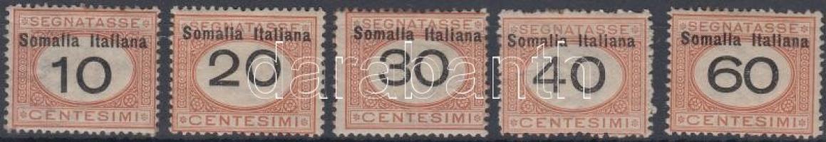 1926 Portó értékek Mi 32-35, 37