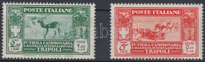 1930 4. Tripoli vásár értékek Mi 97-98