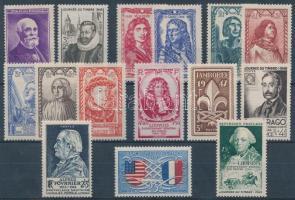 France 15 diff. stamps, Franciaország 15 klf bélyeg