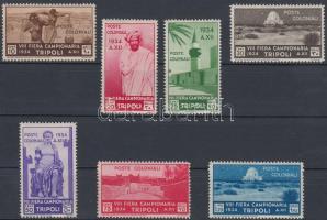 1934 8. Tripoli vásár értékek Mi 202-208