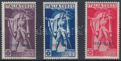 1930 Francesco Ferrucci repülő értékek Mi 108-110