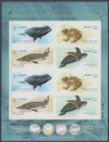 2007 Veszélyeztetett állatok bélyegfólia vágott öntapadós bélyegekkel Mi 2428-2431