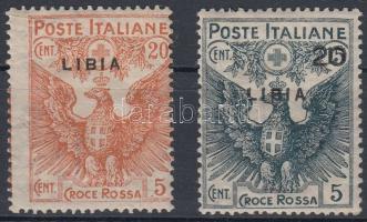 1915 Vöröskereszt értékek Mi 18-19
