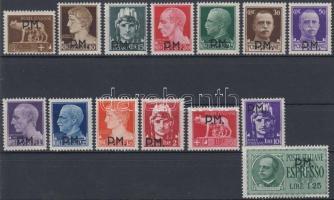 Tábori posta A 1943 Forgalmi sor Mi 1-14