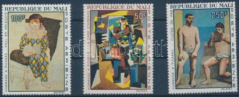 1967 Picasso festmények sor Mi 146-148