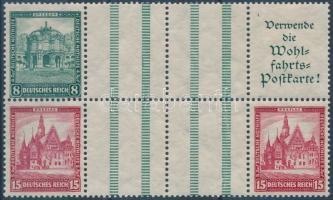 1931 Nothilfe füzetösszefüggés nyolcastömb Mi WZ7 + WZ8