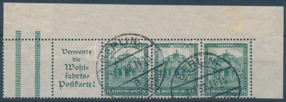 1931 Nothilfe füzetösszefüggés ötöscsík Mi Z+A1.2+3x459