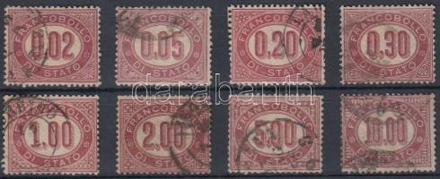 1875 Hivatalos sor Mi 1-8