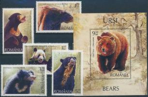 Bears set + block, Medvék sor + blokk
