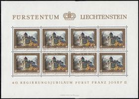 Prince Franz Joseph II minisheet set, II. Ferenc József herceg kisív sor