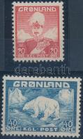 1942 X. Krisztián király és a jegesmedve sor Mi 26-27