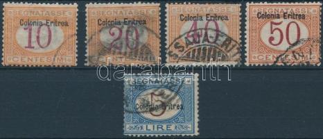 1903 Portó értékek Mi 2-3 I, 5-6 I, 10 II