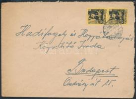 1945 (5. díjszabás) Helyi levél Kisegítő 2x 60P/18f bérmentesítéssel