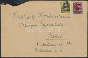 1945 (5. díjszabás) Helyi levél Kisegítő 20P/30f és 60P/18f bérmentesítéssel
