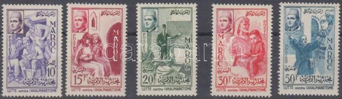 1956 Küzdelem az analfabétizmus ellen sor Mi 415-419