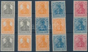 1916-1921 Germania füzetösszefüggések Mi S 16 + S 18 + S 22 + Automatatekercs összefüggések Mi S 12a + S 14a