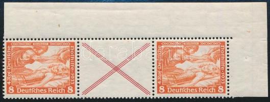 1933 Nothilfe füzetösszefüggés Mi W54 (jobb oldali érték gumiján nagy rozsdafolt)