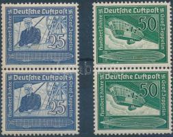 1938 Ferdinand Graf von Zeppelin születésének 100. évfordulója 2 sor párokban Mi 669-670