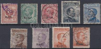 1912 Forgalmi értékek Mi 3-9, 11 X